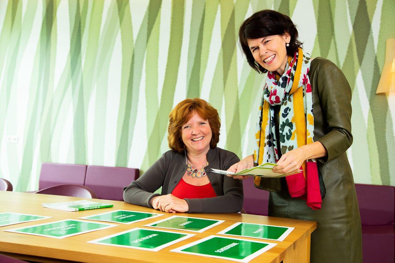 Portretfoto van Irene Piets, directeur Provico, en Jacqueline Baetsen, preventiemedewerker bij MET ggz