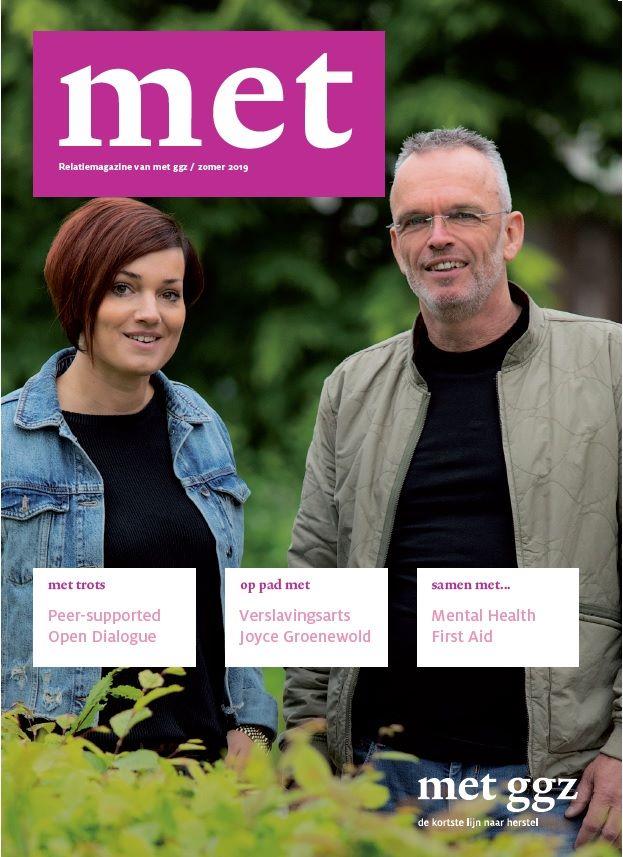 De cover van het MET magazine, uitgave zomer 2019