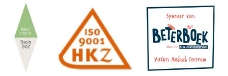 Logo's Keurmerk Basis ggz, HKZ en Sponsor van Beter Boek