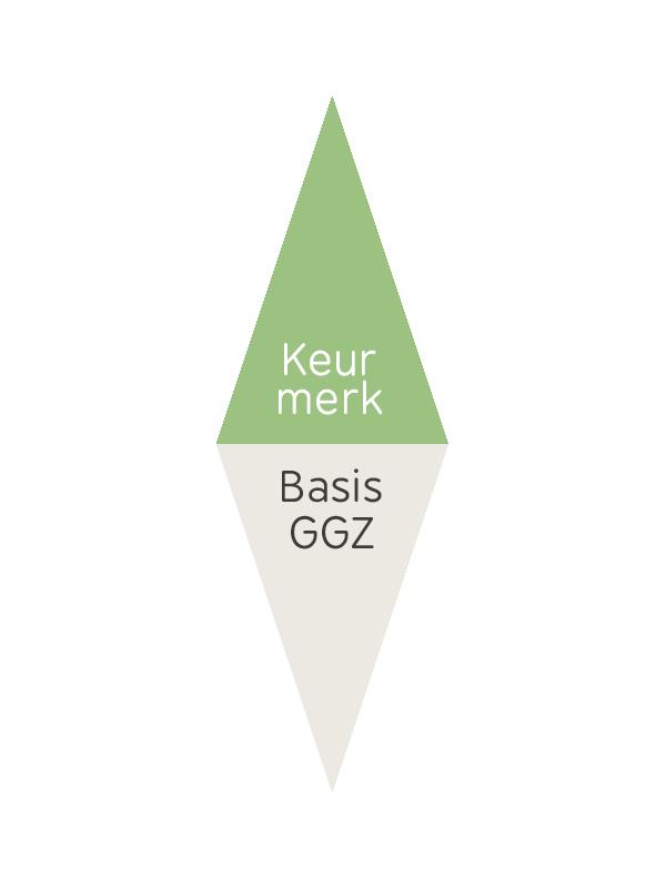 Logo van het keurmerk Keurmerk Basis GGZ