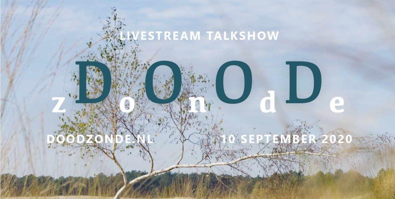 Poster van de talkshow 'Doodzonde'